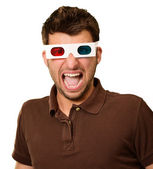 Portrait Of A Young Man Wearing 3d Glasses — Stock Photo