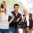 Royalty-Free Stock Photo: Busy Film Team