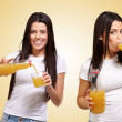 ������, ������: Sequence Of Women Drinking Juice