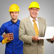 Portrait Of Two Architect Engineers - Stock Photo