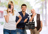 Busy Film Team — Stock Photo