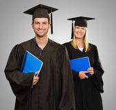 Erkek ve dişi yüksek lisans öğrencileri — Stok fotoğraf