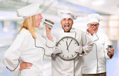 Portrait Of Three Distraught Chef's — Stock Photo