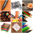 Assortment Of Stationery Supplies - Stock Photo