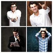 Portrait Of Four Young Men — Stock Photo