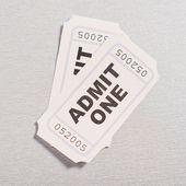 Två biobiljetter theater — Stockfoto
