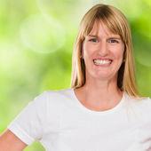 Happy Woman smiling — Stok fotoğraf