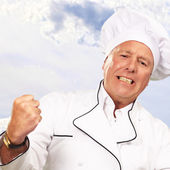 Portrait Of Angry Chef — Stock Photo