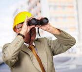 Engineer Looking Away — Stock Photo