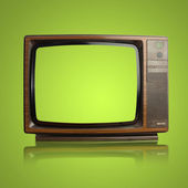 Vintage tv isolated on a white background — Stock Photo