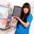 WomHolding Ipad — Stock Photo #14429025