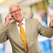 Senior Business Man Talking On Phone — Stock Photo