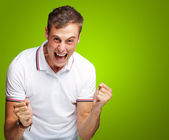 Portrait Of Man Expressing His Excitement — Stock Photo