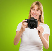 Happy Young Woman Looking At Camera — Stock Photo