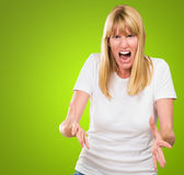 Portrait Of Angry Woman — Stock Photo