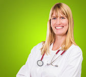Portrait Of Happy Female Doctor — Stock fotografie