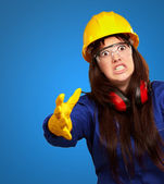 Portrait Of A Frustrated Female Worker — Stock Photo