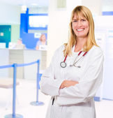 Portrait Of Happy Female Doctor — Stock Photo
