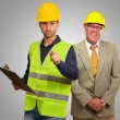 Portrait Of Two Architect Engineers — Foto Stock