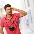 Portrait of a man looking for something — Stock Photo #14857189