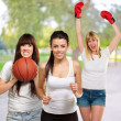 Group Of Sporty Woman - Stock Photo