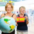 Portrait Of Two Happy Tourists — Stock Photo #14858585