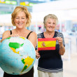 Portrait Of Two Happy Tourists — Stock Photo