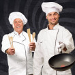 Stock Photo: Portrait Of Two Happy Chef