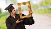 大学院人間、フレームを表示 — ストック写真