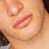 Man's Face Lips — Photo