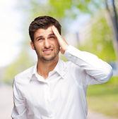 Porträtt av olycklig man — Stockfoto