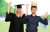 Portrait Of Two Graduate Students — Stockfoto