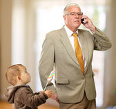 Portrait Of Grandfather And Grand Son — Stock Photo
