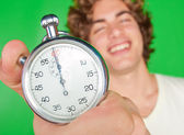 Man met een stopwatch — Stockfoto