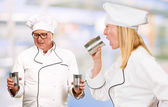 Portrait Of Two Chef — Stock Photo