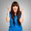 Portrait of a teenager screaming and angry — Stock Photo #14860949