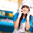 Clench Of Woman Cook - Stock Photo