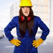 Woman Worker With Helmet — Stock Photo #14861325