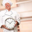 Potrait Of Chef Showing Watch — Stock Photo #14862791