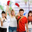 Group Of Sporty — Stock Photo