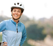 Women smiling with hands on hip — Stock Photo