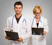 Portrait Of Two Happy Doctors — Stock Photo