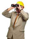 Engineer Looking Away — Stock Photo
