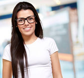 Portrait Of A Young Girl Wearing Specs — Foto Stock