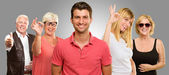 Group Of Showing Hand Sign — Stock Photo