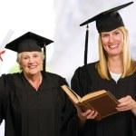 Two Graduate Woman — Stock Photo