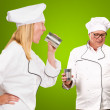 Portrait Of Two Chef — Stock Photo #16303399