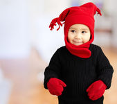 Portrait Of Baby Boy Wearing Warm Clothing — Stock Photo