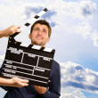 Director Clapping The Clapper Board — Foto Stock