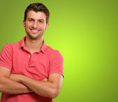 Casual Man with Arms Crossed — Stock Photo